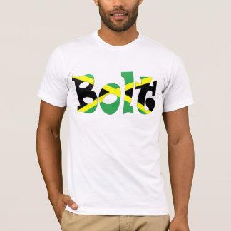 Usain Bolzen-jamaikanischer Flaggen-T - Shirt