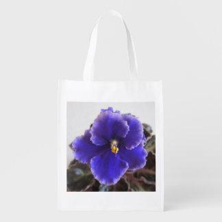 Usambaraveilchen-Blühen Wiederverwendbare Einkaufstasche