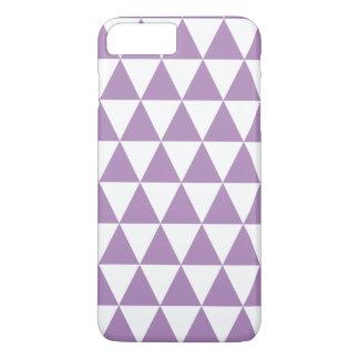 Usambaraveilchen-Dreieck-Muster iPhone 7 Plusfall iPhone 8 Plus/7 Plus Hülle
