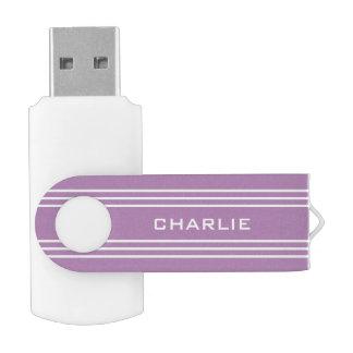 USB-Antriebe Monogramm der Flieder-Streifen USB Stick