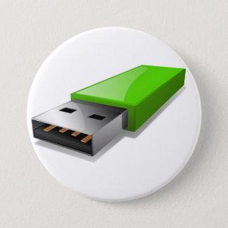 USB-Blitz-Antriebs-Knopf Runder Button 7,6 Cm