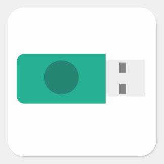 USB-Stock Quadratischer Aufkleber
