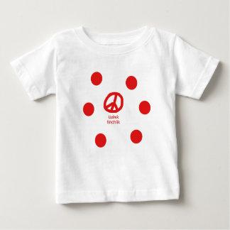 Usbek-Sprache und Friedenssymbol-Entwurf Baby T-shirt