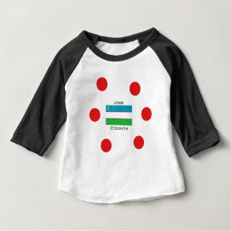 Usbek-Sprache und Usbekistan-Flaggen-Entwurf Baby T-shirt