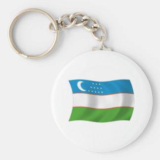 Usbekistan-Flagge Keychain Schlüsselanhänger