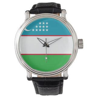 Usbekistan-Flagge Uhr