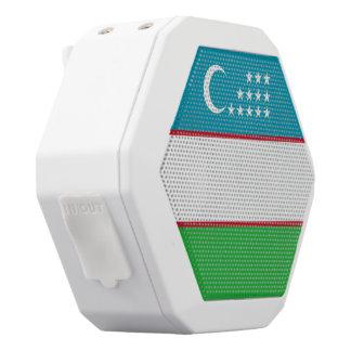 Usbekistan-Flagge Weiße Bluetooth Lautsprecher