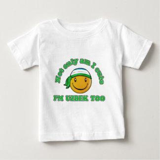 Usbekistan-smileyflaggenentwürfe Baby T-shirt
