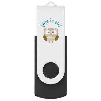 "Usbschlüssel ""Love is owl "" USB Stick"