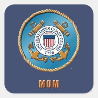 USCG Mamma-Quadrat-Aufkleber, glatt Quadratischer Aufkleber