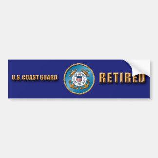 USCG pensionierter Autoaufkleber