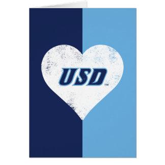 USD Vintages Herz Karte