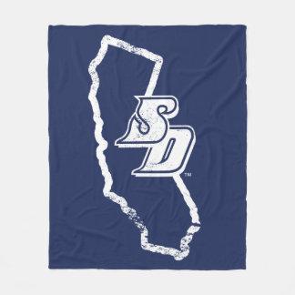 USD   Vintages Kalifornien Staats-Logo Fleecedecke