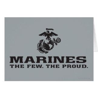 USMC die wenigen das stolze Logo gestapelt - Karte
