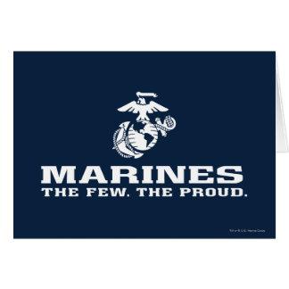 USMC die wenigen das stolze Logo gestapelt - Weiß Karte