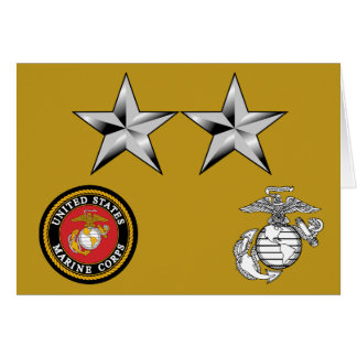 USMC MajGen Generalmajor 0-8 Grußkarte