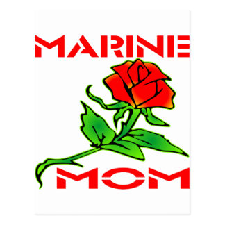 Usmc-Marinemamma-Rose Postkarte