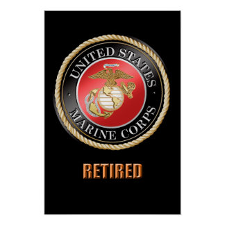 USMC pensioniertes Plakat