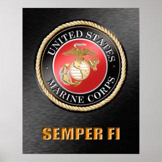 USMC Semper FI-Plakat Poster