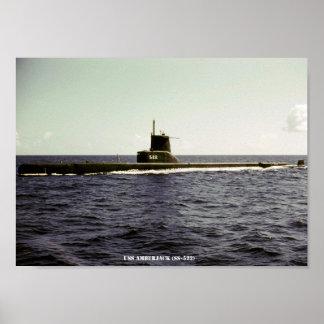 USS-AMBERFISCH POSTER