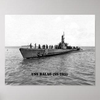 USS BALAO POSTER