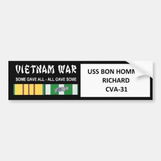 USS BON HOMME RICHARD VIETNAMKRIEG-VETERAN AUTOAUFKLEBER