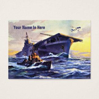 USS Bunker Hill Vintag Visitenkarte