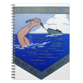USS Cahokia ATA-186 Spiral Notizblock