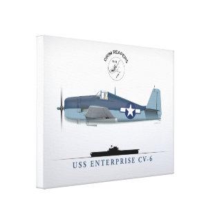 USS Enterprise des Hellcat-VF-10 Leinwanddruck