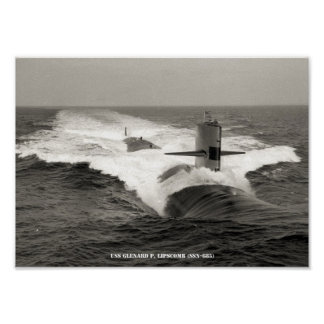 USS GLENARD P. LIPSCOMB POSTER