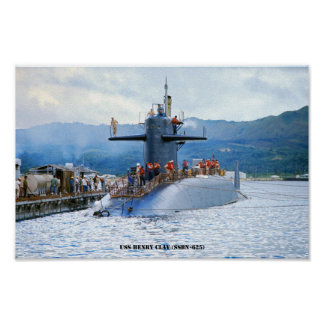 USS HENRY CLAY POSTER