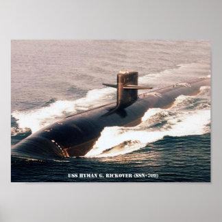 USS HYMAN G. RICKOVER POSTER