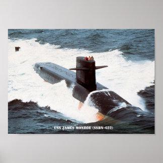 USS JAMES MONROE POSTER