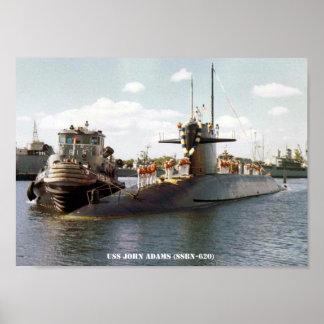 USS JOHN ADAMS POSTER
