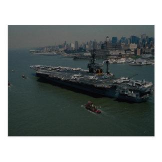 """USS John F. Kennedy"""", hereinkommenden New York der Postkarte"""