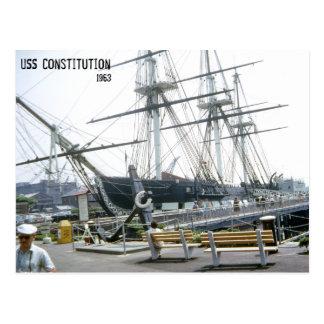 USS-Konstitution 1963 Postkarte