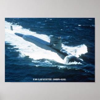 USS LAFAYETTE POSTER