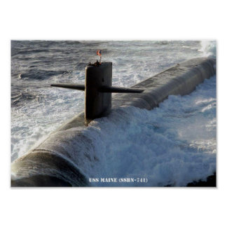 USS MAINE POSTER