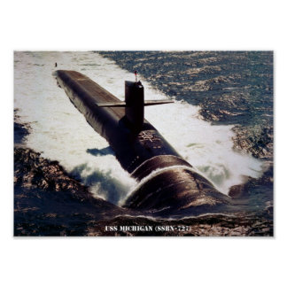 USS MICHIGAN POSTER