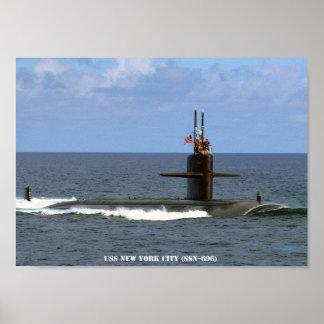 USS NEW YORK CITY POSTER