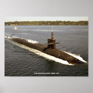 USS PENNSYLVANIA POSTER
