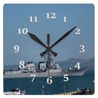 USS Preble Quadratische Wanduhr