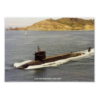 USS-SAM HOUSTON POSTER