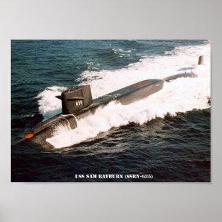 USS-SAM RAYBURN POSTER