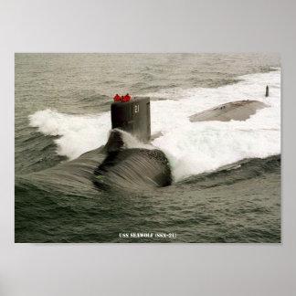 USS SEAWOLF POSTER