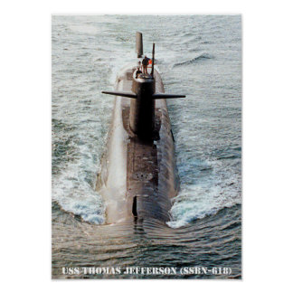 USS THOMAS JEFFERSON POSTER