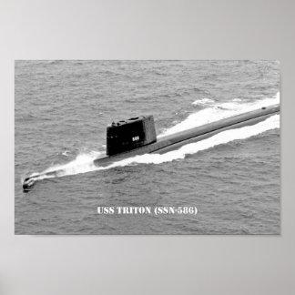USS TRITON POSTER