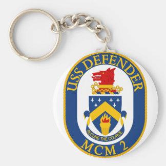 USS-Verteidiger - MCM 2 - sichern Sie den Kurs Schlüsselanhänger