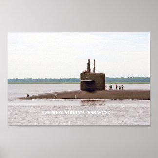 USS WEST VIRGINIA POSTER