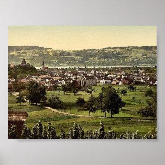 Uster, allgemeine Ansicht, die Schweiz-Klassiker P Poster